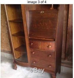 Antique Quarter Sawn Tiger Eye Oak Secretary. A Real Show Stopper