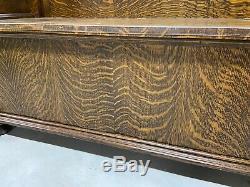 Antique Quarter Sawn Tiger Oak Front Bar