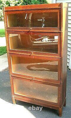 Antique Quarter Sawn Tiger Oak Udell Barrister Stacking Lawyer's Bookcase
