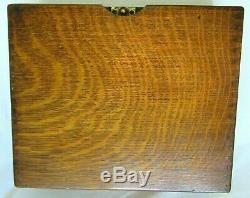 Antique Quartersawn Tiger Oak Wood File Document Drawer Box Mission Desk Office