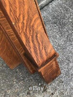 Antique Quartersawn Tiger Oak Wood Mantle Antique No Glass Fireplace Will Ship