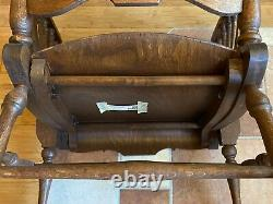 Antique Rocking Chair 1903 tiger oak beautifully restored excellent condition
