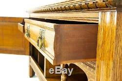 Antique Sideboard, Victorian Tiger Oak Buffet Server, Scotland 1890, B1425