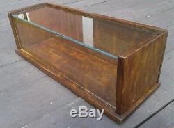 Antique Solid Tiger Oak or Quarter Sawn Oak Table Top Display Show Case 1930s