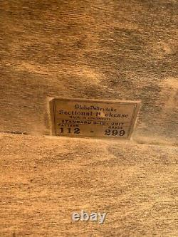 Antique TIGER OAK 112 299 GLOBE WERNICKE BARRISTER STACKING BOOKCASE