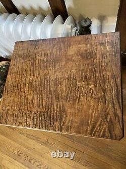 Antique Tiger Maple (Laminated) Side Table