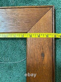 Antique Tiger Mission Oak Arts Crafts Wood Frame Great Grain 18 x 18