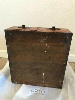 Antique Tiger Oak 2 Drawer Index Card Catalog Cabinet