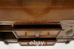 Antique Tiger Oak Barley Twist, Sideboard Buffet, Server, Scotland 1920, B2074
