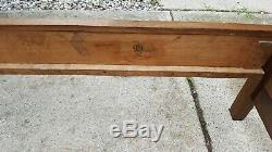 Antique Tiger Oak Bed Carved Headboard Rolling Pin Footboard Original Excellent