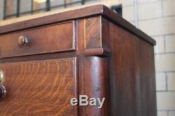 Antique Tiger Oak Chest Of Drawers