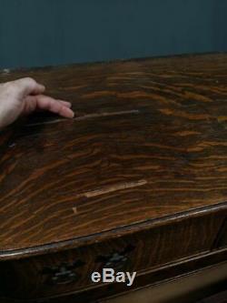 Antique Tiger Oak Dresser Vanity Quarter-Sawn (No Mirror Glass)