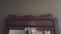 Antique Tiger Oak Dresser With Mirror