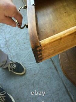 Antique Tiger Oak Dresser with tri-fold Mirror