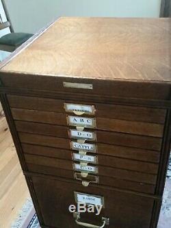 Antique Tiger Oak File Cabinet Yawman Erbe 1911 Lateral Stacking File