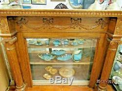 Antique Tiger Oak Fireplace Mantle