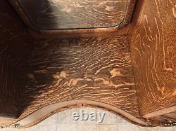 Antique Tiger Oak Harlow dresser with Full Length mirror