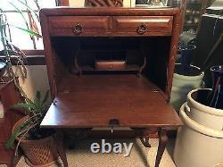Antique Tiger Oak Ladies Secretary
