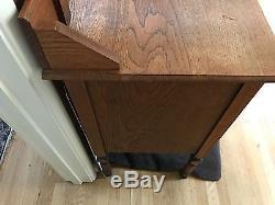 Antique Tiger Oak Mirror Top Dresser With Mirror Early 20th C. 60hx18dx38.5w