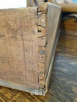 Antique Tiger Oak / Quarter Sawn Serpentine Dresser with Beveled Mirror