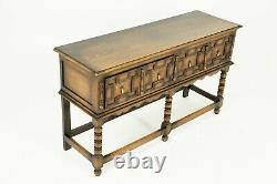 Antique Tiger Oak Serving Sideboard, Sofa, Hall Table, Scotland 1910, B2444
