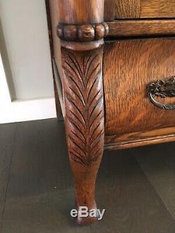 Antique Tiger Oak Sideboard, Beautiful