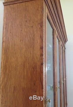 Antique Tiger Oak Store Humidor Display Cabinet 8' 3.5 Tall X 7' 5 Wide X 13