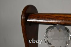 Antique Tiger Oak Tantalus with 3 Decanters