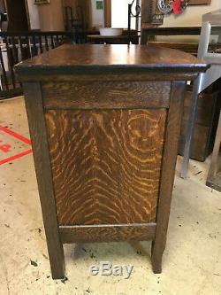 Antique Tiger Oak Wash Stand