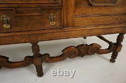 Antique Tiger Oak and Walnut Sideboard, Buffet, Scotland 1920, B2137