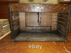 Antique UNION TOOL CHEST CO. B 17 Tiger Oak, 5/2, 7 Drawer Machinist Tool Chest