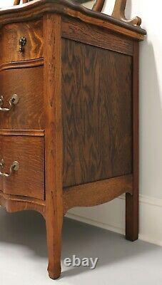 Antique Victorian Quartersawn Tiger Oak Dresser with Mirror
