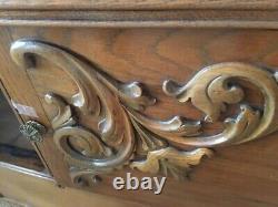 Antique Victorian Tiger Oak Dresser / Buffet