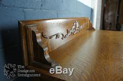 Antique Victorian Tiger Oak Sideboard Buffet Server Dresser Paw Feet Empire