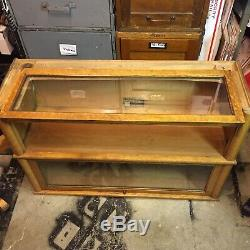 Antique Viking Tiger Oak Bookcase stacking Barrister Lawyer 5 piece RARE