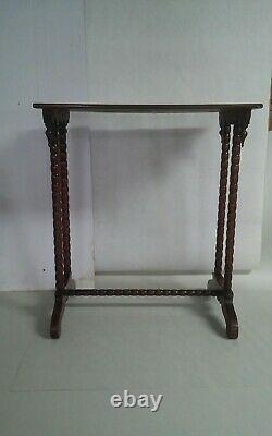 Antique Vintage Tiger Maple Side Table End Furniture Hall Curly