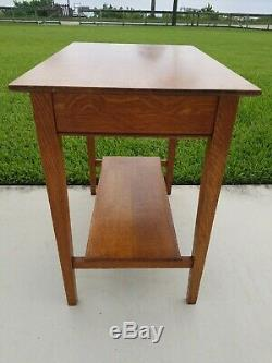 Antique Vintage Tiger Quarter Sawn Oak Library School Table