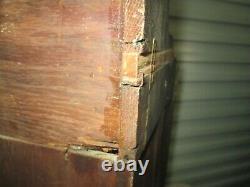 Antique Wall or Free Standing Corner Cabinet Cupboard / Beveled Mirror