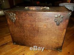 Antique machinist tool box tiger oak