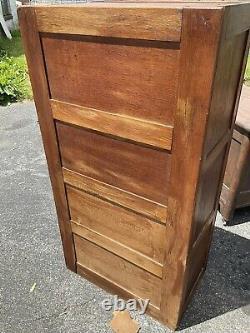 Antique oak 4 drawer office filing cabinet tiger oak project