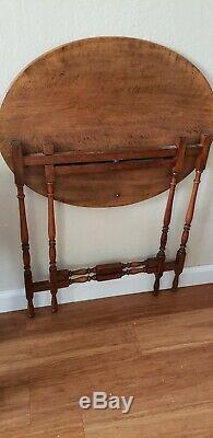 Antique quarter sawn Tiger Oak Folding Table