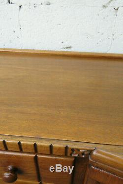 Art Deco Tiger Oak Server Buffet Sideboard Cabinet Cupboard 1099