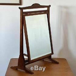 Arthur Simpson, The Handicrafts, Arts and Crafts Tiger Oak Dressing Table Mirror