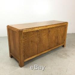 BERNHARDT Tiger Oak Buffet Sideboard Dresser Credenza Mid Century Modern Style