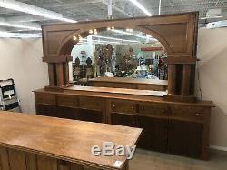 Back Bar Arched Quarter-Sawn Tiger Oak