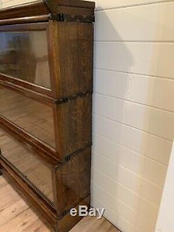 Beautiful Antique Tiger Oak Graduated Stacking Bookcase