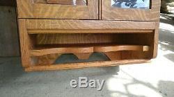 Beautiful Large Antique Medicine Cabinet Solid Tiger Oak Excellent
