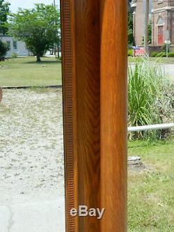 Beautiful Tiger Oak Hall MirrorLarge with Columns