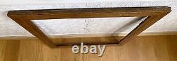 Big 32.5 X 26.5 Antique TIGER OAK Quarter Sawn Mission Style Wooden Frame Vtg