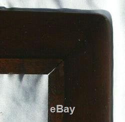 Big Fits 16.5 X 23.13 Antique Dark Fumed TIGER OAK Mission Style Wooden Frame
